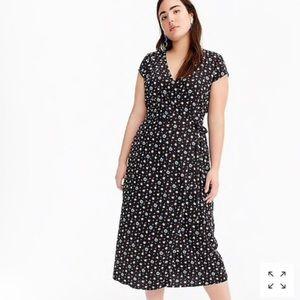 J Crew Midi Wrap Dress